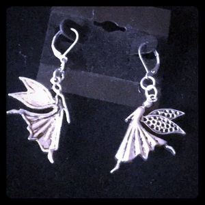 Silver Dancing Fairies Earrings